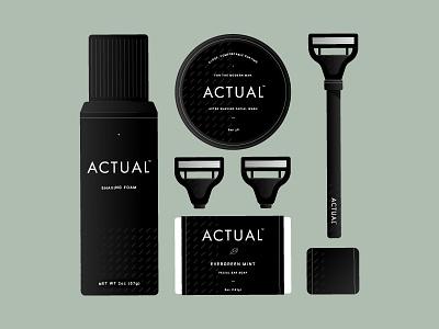 Actual - Packaging Elements pattern foam mark logo soap razor shaving identity branding actual