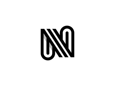 N design monogram design black  white black lines branding brand identity mark letter monogram logo n