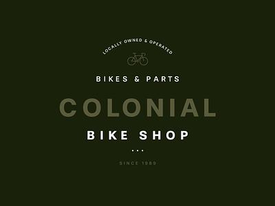 Colonial Bike Shop logotype badge print icon web brand monogram illustration grid digital design mark identity logo branding