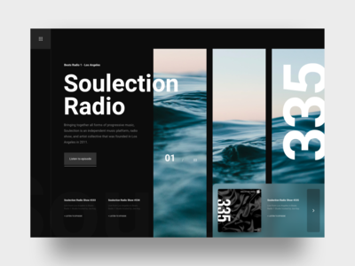 Soulection Radio Landing Page Concept