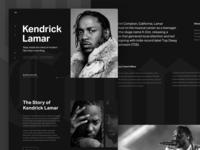 Kendrick Lamar Site Concept