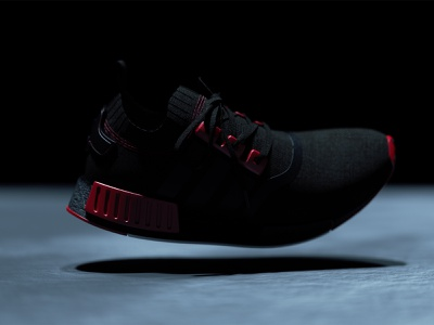 Adidas NMD Render 2 still life scene texture lighting laces footwear design advertising adidas originals commercial product footwear shoe 4d 3d octane cinema 4d render nmd adidas