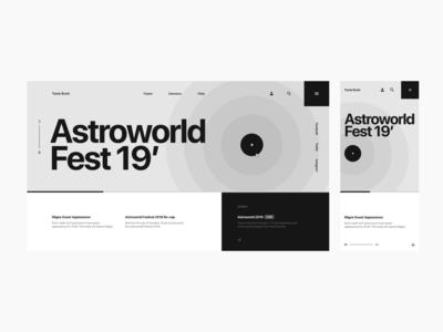 Astroworld Fest Wireframe Exploration Pt. 1