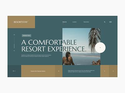 Resortstay Website icon web grid design digital site hotel resort interactive development typography layout ux ui website