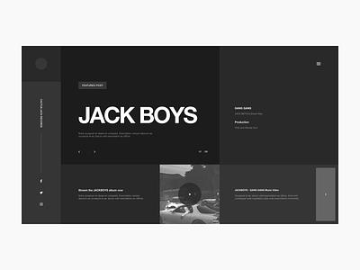 JACK BOYS Website Wireframe Pt. 1 app ux ui web grid design typography layout website design website music hip hop travis scott jack boys