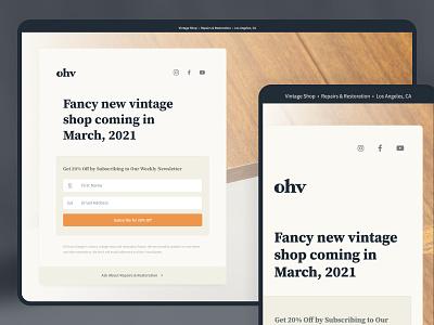 Coming Soon - Rebound sign up newsletter furniture branding logo design landing page web design ecommerce ux ui