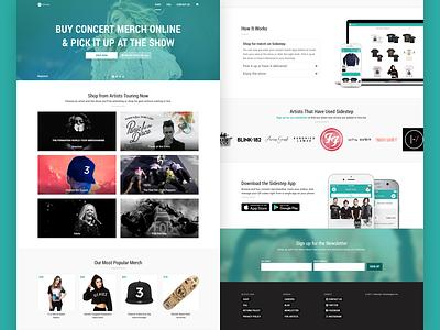 Sidestep Web Store web design merch store landing page