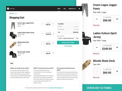 Sidestep - Shopping Cart cart shopping cart ecommerce merch merchandise musicians music