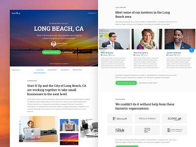 Startitup Case Study - Long Beach, CA ui ux landing page case study