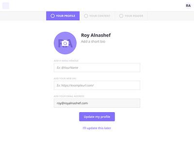 Account Registration registration signup onboarding ui ux