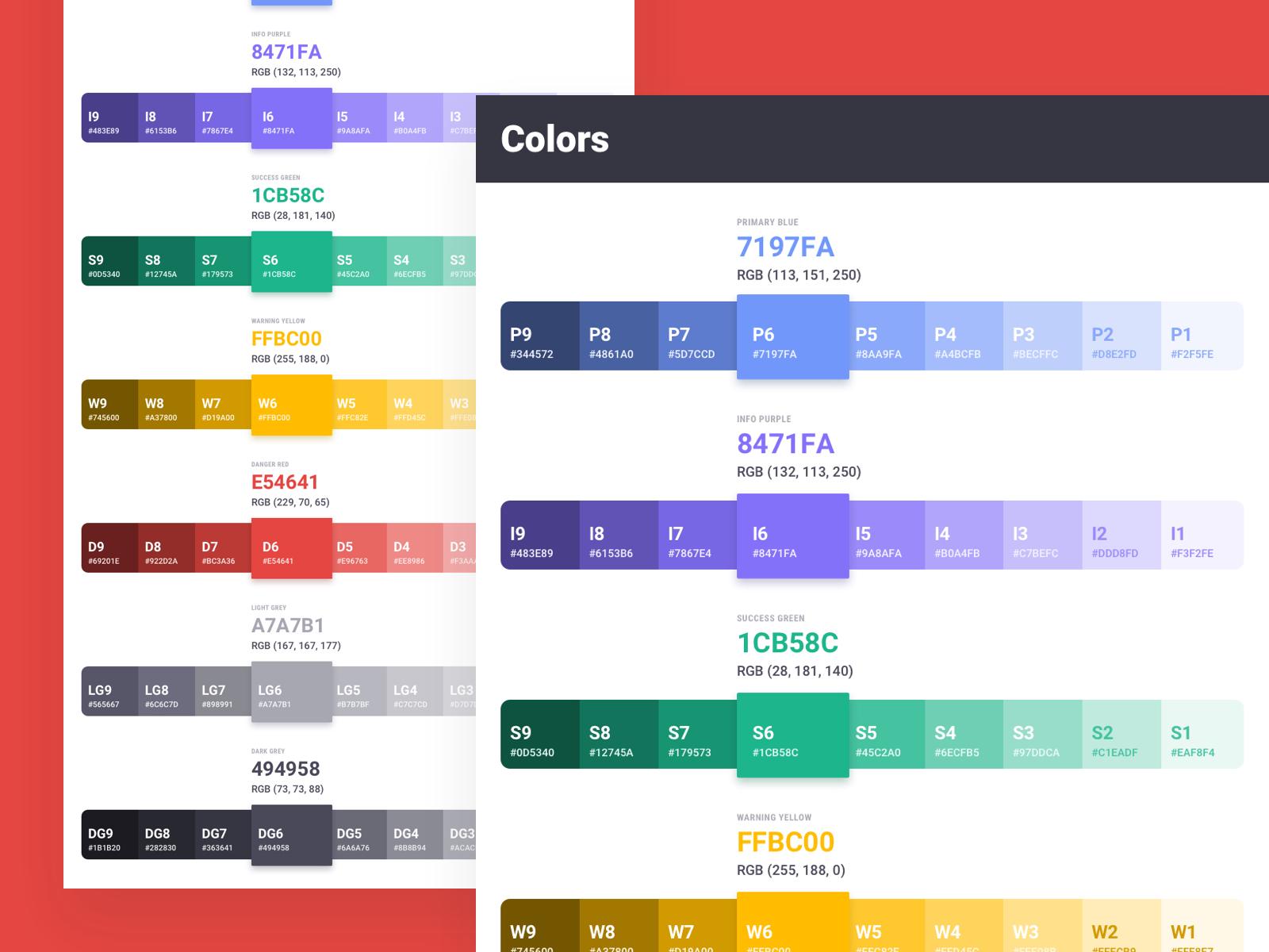 Brandboom color guidelines