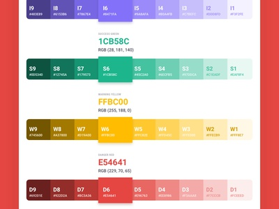 Brandboom Color Swatches swatches ui design system guidelines styleguide colors
