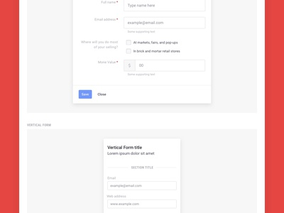 Brandboom Form Guidelines switches fields ui layout guidelines styleguide form elements