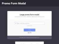 Modals   promo form 2x