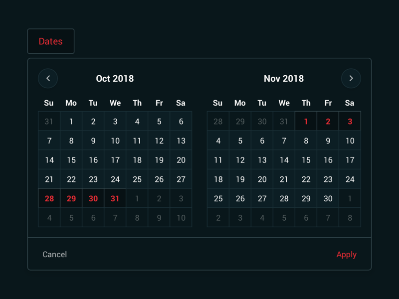 Date Picker - LiveThrough roboto website date range sketch web app calendar date picker ux ui