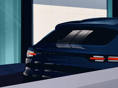 Opulence modern car rich luxury illustration procreate drawing