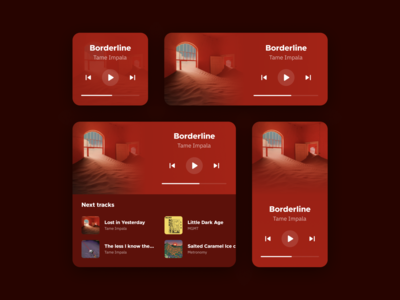 Music Widget android apple app ui mobile cards cards ui card widgets widget music app player music player music