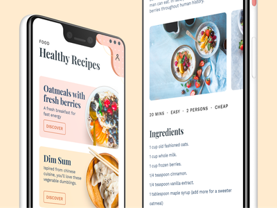 All Day Relax Food color pastels minimal ux ui food app care healthcare recipes food healty healthy food