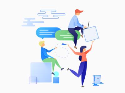 Smart Community illustration brand smart launcher smart website drawing illustration