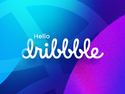 Hello Dribble noise shapes graphic abstract illustration debut