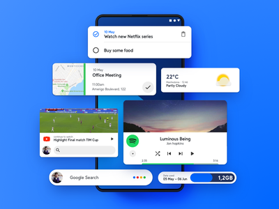 Smart Widgets concept app design smart widgets customization ux ui