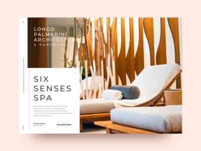 lparchitecture website relax spa landing minimal interior design architecture app ui graphic website web