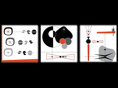 Mid Mod Abstract Prints modern abstract art print atomic art art mid century modern mid mod