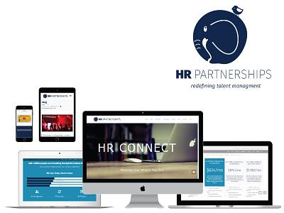 HR Company Brand and Web Design identity branding logo design wordpress web design human resources hr