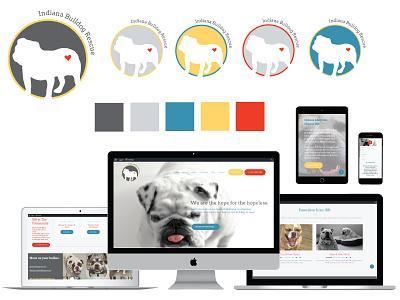 Indiana Bulldog Rescue Brand Identity Development and Web Design color design logo design website design non profit branding