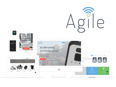 Agile Medical Alert iconography brand design logo web design