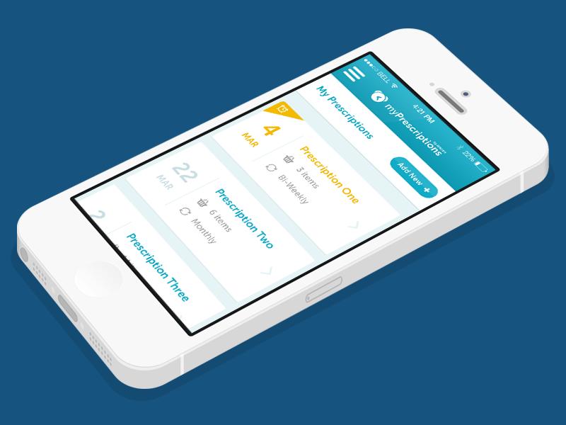 Prescription Reminder App app ui mobile reminder event medical healthcare