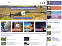 National Park Homepage concept