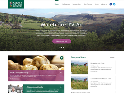 Homepage Redesign homepage ui ux web design hero flat farm nature food