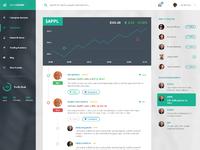 Stocks dashboard concept