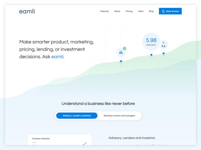 Eamli Homepage principle websites flat website ui ux homepagedesign homepage branding animation design