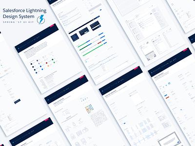 Lightning Design System Sketch UI Kit - Spring 17  lightning prototyping spring brand ui kit design ui sketch salesforce ux salesforce