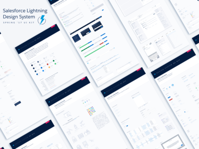 Lightning Design System Sketch UI Kit - Spring 17  lightning prototyping spring brand ui kit design ui sketch salesforce ux salesforce