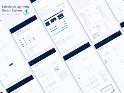 Lightning Design System Sketch UI Kit - Spring 17