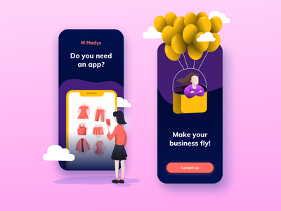 Do you need an app? app popular app design ui illustrations modern application popular shot mobile ui social media banner social media simple colors ios promotional design design illustration mobile
