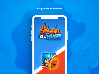 Sinful Rush - Mobile Game modern simple design vector illustration illustrations game icon gaming logo mobile ui android red blue popular shot popular ui design ui  ux mobile game ui gaming mobile game