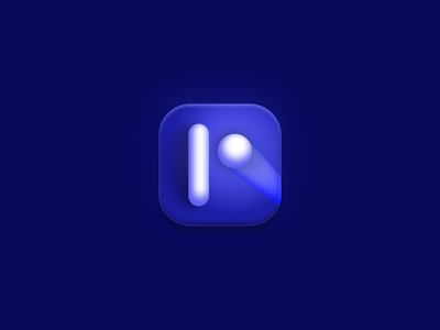 Pong Icon blue atari ping pong modern design iconography icon design simple popular shot popular app videogame illustration icons android ios game pong icon