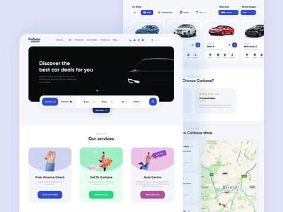 Carbase Redesign - Car shop design modern illustrations rouded popular shot popular cars rental shop simple interface ux ui desktop web website