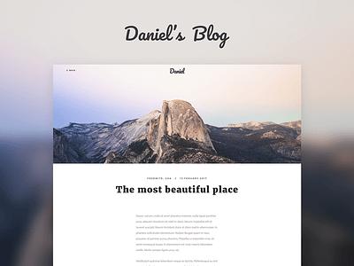 Daniel's Blog simple travel flat site website web modern blog
