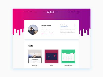 Daily UI #006 - User Profile daily ui dailyui user profile modern flat website design web profile user