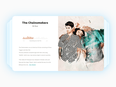 Artists informations card - The Chainsmokers informations infos flat cards card music artist artists