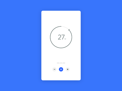 Daily UI #014 - Countdown Timer daily ui modern simple blue countdown timer dailyui daily