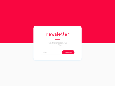 Daily UI #026 - Subscribe email subscribe newsletter daily dailyui red simple modern daily ui