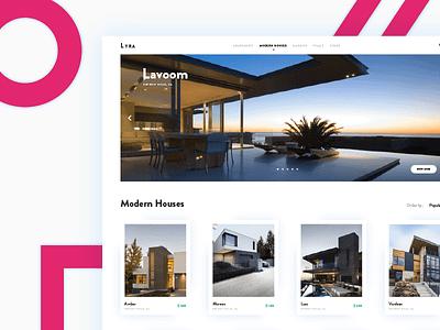 Lyra - Houses Market 2017 home website market houses modern ux ui web