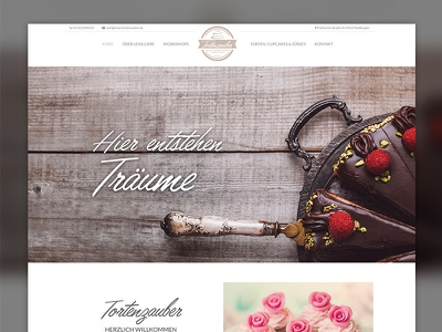Lenas Tortenzauber webdesign