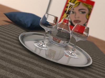 Glasscene 3d-design cd cgdesign 3d artwork